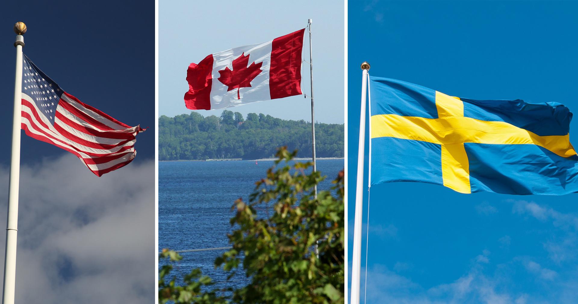 Ensi viikonlopun teemoina Ruotsi ja Pohjois-Amerikka